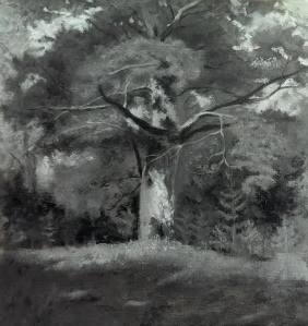 Monochromatic copy after Isaac Levitan