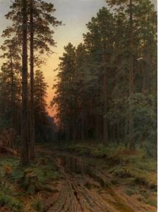 Shishkin forest dusk